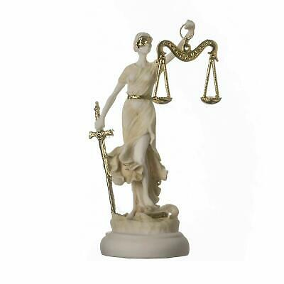 Greek Goddess Themis Statue Figurine Blind Lady Justice Lawyer Gift Golden