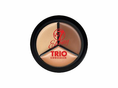 W7 Ebony Trio Concealer Pot Full Coverage with A Perfect Finish New Design