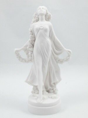 FLORA Goddess / Maiden of Blossoms Flowers Molded Marble Resin Statue Sculpture