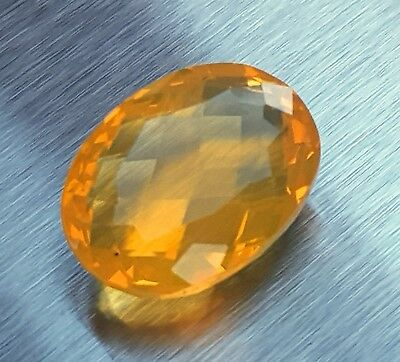 WaterfallGems AAA Mexican Fire Opal, 12.9x9.7mm, 3.76ct