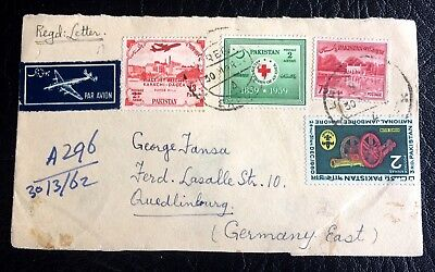 nice old 4 stamps on paper Pakistan 1962
