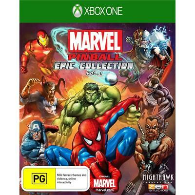 Marvel Pinball Epic Collection Vol 1 XBOX ONE GAME BRAND NEW FREE POSTAGE