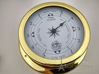 NEW 1 piece 115mm Brass Case Traditional Tide clock