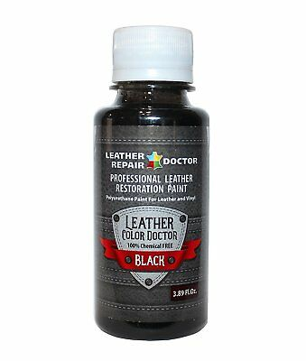 Professional Black Leather Paint For Touch-Up, Recoloring and Restoration - and
