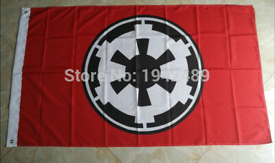 STAR WARS RED GALACTIC EMPIRE FLAG 3x5FT 90x150CM TWO GROMMETS