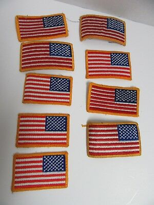 Lot 9 US Military Reverse American Flag Sew On
