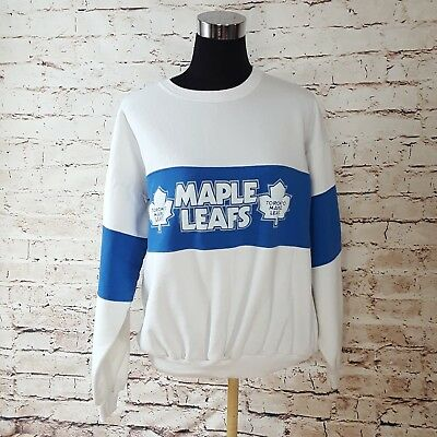 f0e907691 Vintage Toronto Maple Leafs Crewneck Pullover Sweatshirt Size S M Spellout  Logo