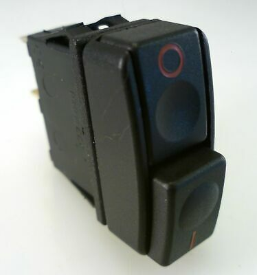 Everel A3 018 Push Switch Black Two Buttons On/Off 16A 250VAC OMQ1-2-03