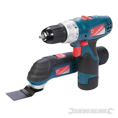 Silverstorm 10.8V Multi-Tool & Drill Driver twin pack 262731 silverline