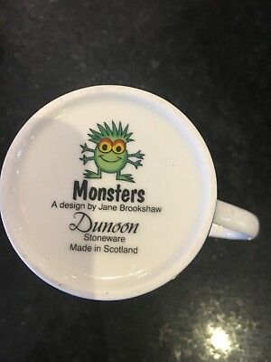 "Dunoon Stoneware Mug Scotland ""monsters"" Jane Brookshaw"