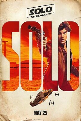 Solo A Star Wars Story Poster Movie Characters 2018 New Art Film Print Han Solo