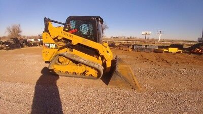2015 Caterpillar 259 D 259D 2 Speed Cab A/c Track Skid Steer High Flow Used