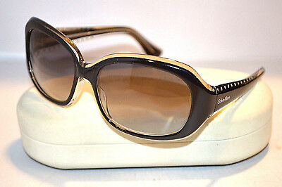 CALVIN KLEIN Collection 797S 038 Black Plastic Women's Sunglasses Made in ITALY