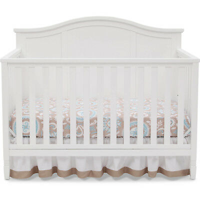 4-in-1 Convertible Crib Toddler Bed Daybed and Full Size Bed White