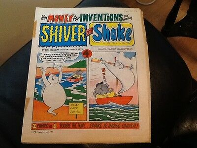SHIVER AND SHAKE  Paper comic 1973 ISSUE NUMBER 27 Still in great conditions