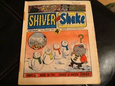 SHIVER AND SHAKE  Paper comic 1973 ISSUE NUMBER 45 Still in great condition