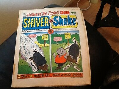 SHIVER AND SHAKE  Paper comic 1973 ISSUE NUMBER 24 Still in great conditions