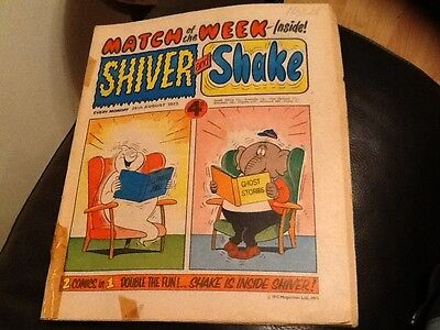 SHIVER AND SHAKE  Paper comic AUG 1973 ISSUE NUMBER 25 in good condition