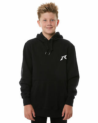 New Rusty Boys Kids Boys One Hit Competition Hooded Fleece Black