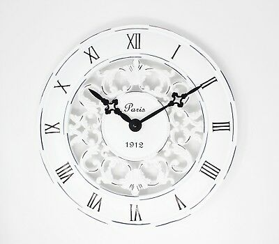 Clock gift Vintage French Style Wall Clock In Antique Cream - Perfect Country