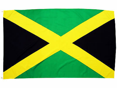 Fahne Jamaika Querformat 90 x 150 cm Hiss Flagge Nationalfllagge Jamaica