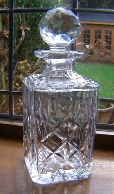 Royal Brierley Heavy Cut Glass Crystal Whisky Decanter `marlborough` Pattern
