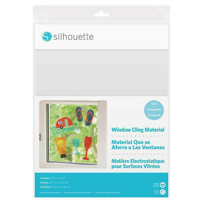 silhouette window cling material