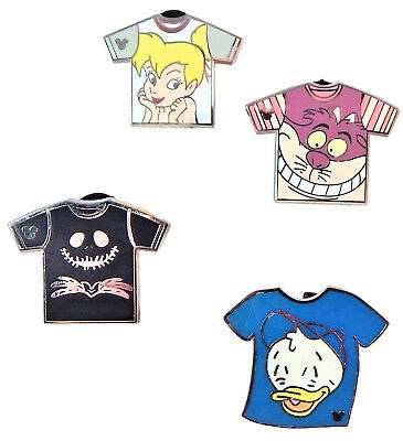 Disney Park Trade Pins T-Shirt Set - 4 Total Authentic Trading Pins - Brand NEW
