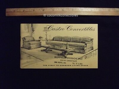 1963 Brochure Castro Convertibles Living Room Furniture New Hyde Park NY 37 page
