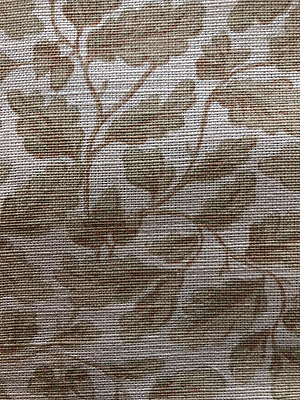 "Bennison ""English Oakleaf"" Fabric Yardage in Color ""Beige on Oyster"""