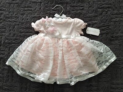 Baby Girl Pink Dress Lace Skirt Size 3 M 8-12lbs Koala Baby Boutique