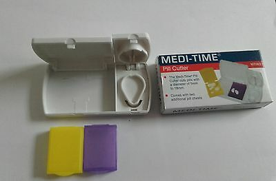 MediTime Excellent Tablet / Pill Cutter Splitter Plus Storage 1st CLASSPOSTAGE