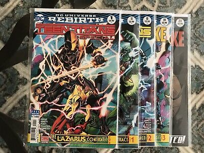 DC Lazarus Contract Full Set Teen Titans 8 Special 1 Titans 11 Deathstroke 19 20