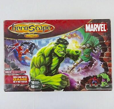 Marvel Hero Scape The Battle of All Time game set + 19 Extra Figures