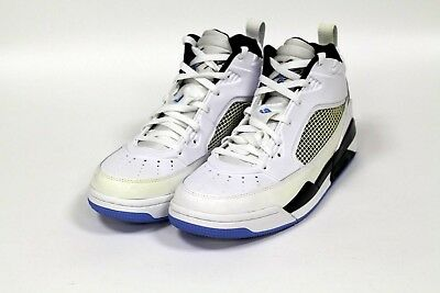 a24e1db473a2 Nike Jordan Men s Flight 9.5 Shoes DAMAGED White Blue Black 654262-127