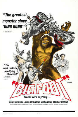 1976 THE LEGEND OF BIGFOOT VINTAGE MOVIE POSTER PRINT 54x36 BIG 9 MIL PAPER