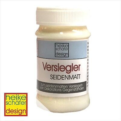 Versiegler, Lack Seidenmatt, Transparent,  90ml -Neu- Heike Schäfer Design