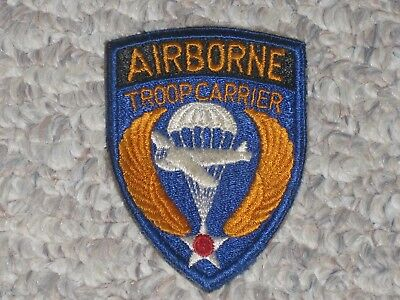 WW2 US Army Air Forces Airborne Troop Carrier Patch WWII Cut Edge