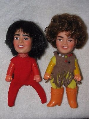 1968 Davey & Mickey THE MONKEES Finger Ding Dolls By Remco