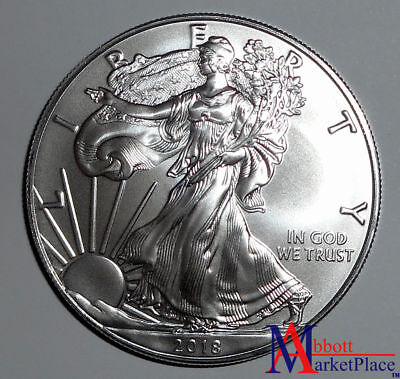 2018 1 oz BU Silver American Eagle Fresh From Mint Roll LT3429