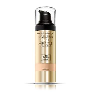 Max Factor Ageless Elixir Miracle 2 in 1 Foundation + Serum 30ml *CHOOSE SHADE*