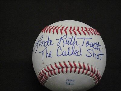 Babe Ruth's Granddaughter Linda Ruth Tosetti Autographed Inscribed Ball W/Coa
