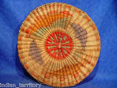 Hopi Wicker Basket c.1890 - Very Old, Great colors on one side 16 3/4""