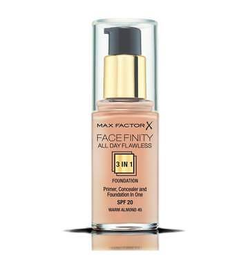 Max Factor Facefinity All Day Flawless 3 in 1 Foundation SPF 20 **SEALED & NEW**
