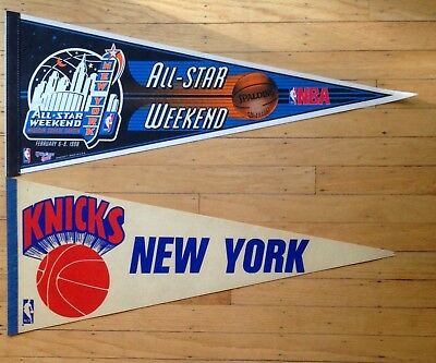 Lot of 2 Vintage New York Knicks & 1998 All Star Game pennant Full size - NBA