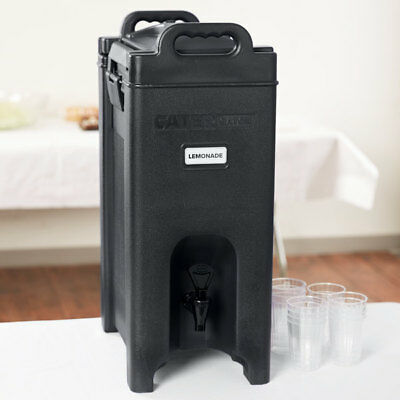 3 PACK 5 Gallon Black Insulated Hot Cold Beverage Drink Dispenser Cooler Coffee