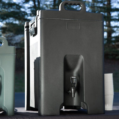 Carlisle XT1000003 Black Cateraide Insulated Beverage Server Dispenser 10 Gallon