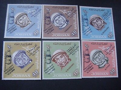 Jordan 1966 Astronauts with Overprints Set of 6 Stamps MH SG 728-733 Cat £36.00