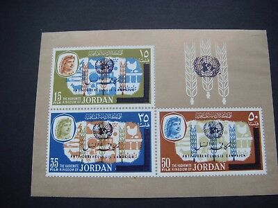 Jordan 1966 Anti TB Sheet Small Marks on Back see scans SG MS 744 MNH Cat £17.00