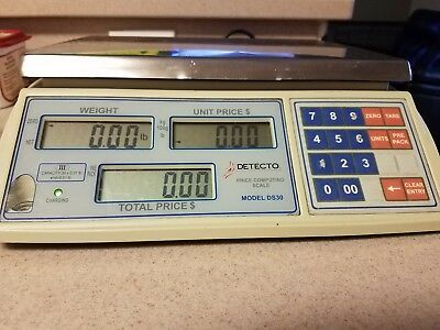 Pre Owned Detecto DS30 Price Computing Scale 30 lb x .01 lb FREE SHIPPING